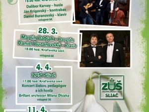 plagát k podujatiu Zámocká hudobná jar 2019