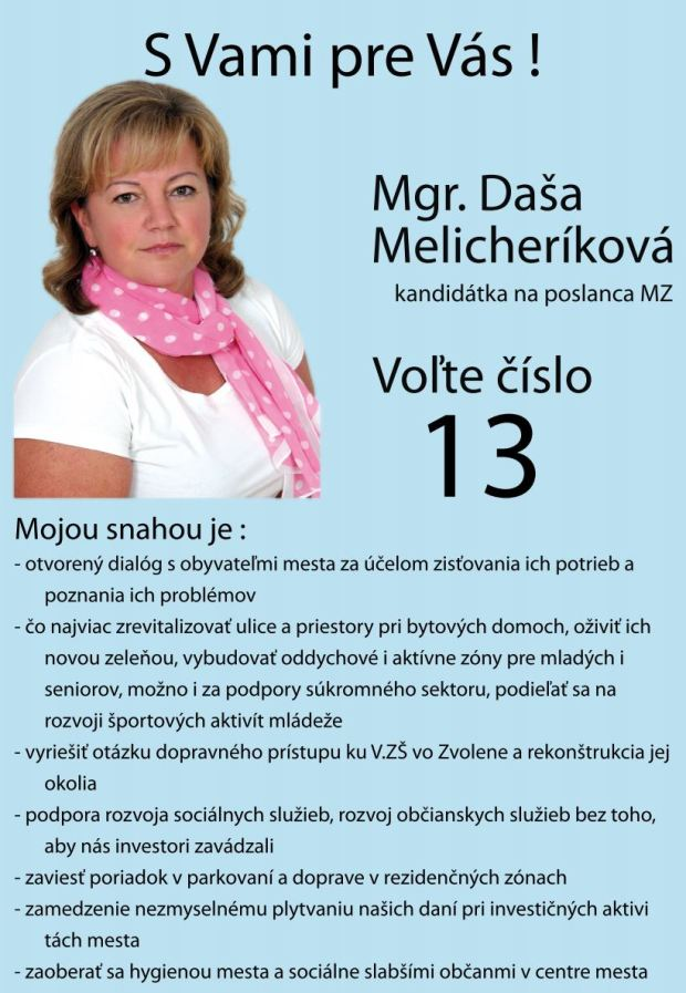 dasa-melicherikova-komunalne-volby-2014-zvolen