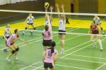 dievcata hraju vo zvolene volejbal
