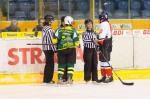 podavanie ruk pred hokejovym zapasom