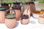 drôtovaná hlinená keramika