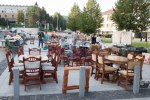 drevené rustikálne stoly
