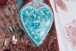 modré perníkové srdce