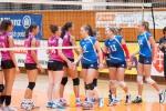 záverečné podávanie rúk na volejbalovom zápase žien