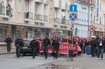 Fanúšikovia Bystrice v meste Zvolen