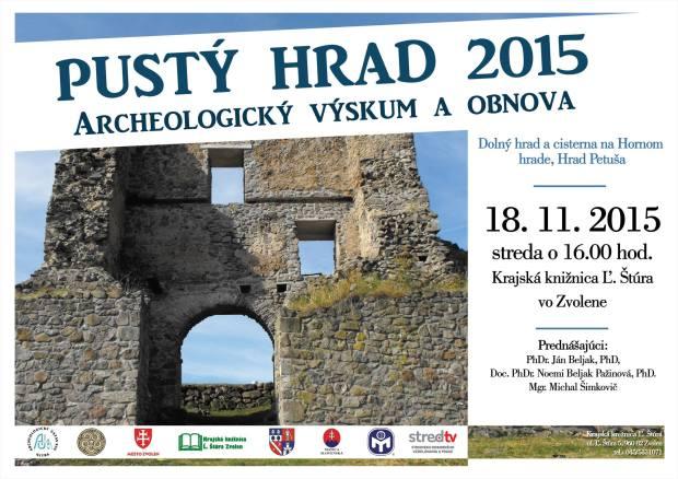 pusty-hrad-vyskum-2015-plagat