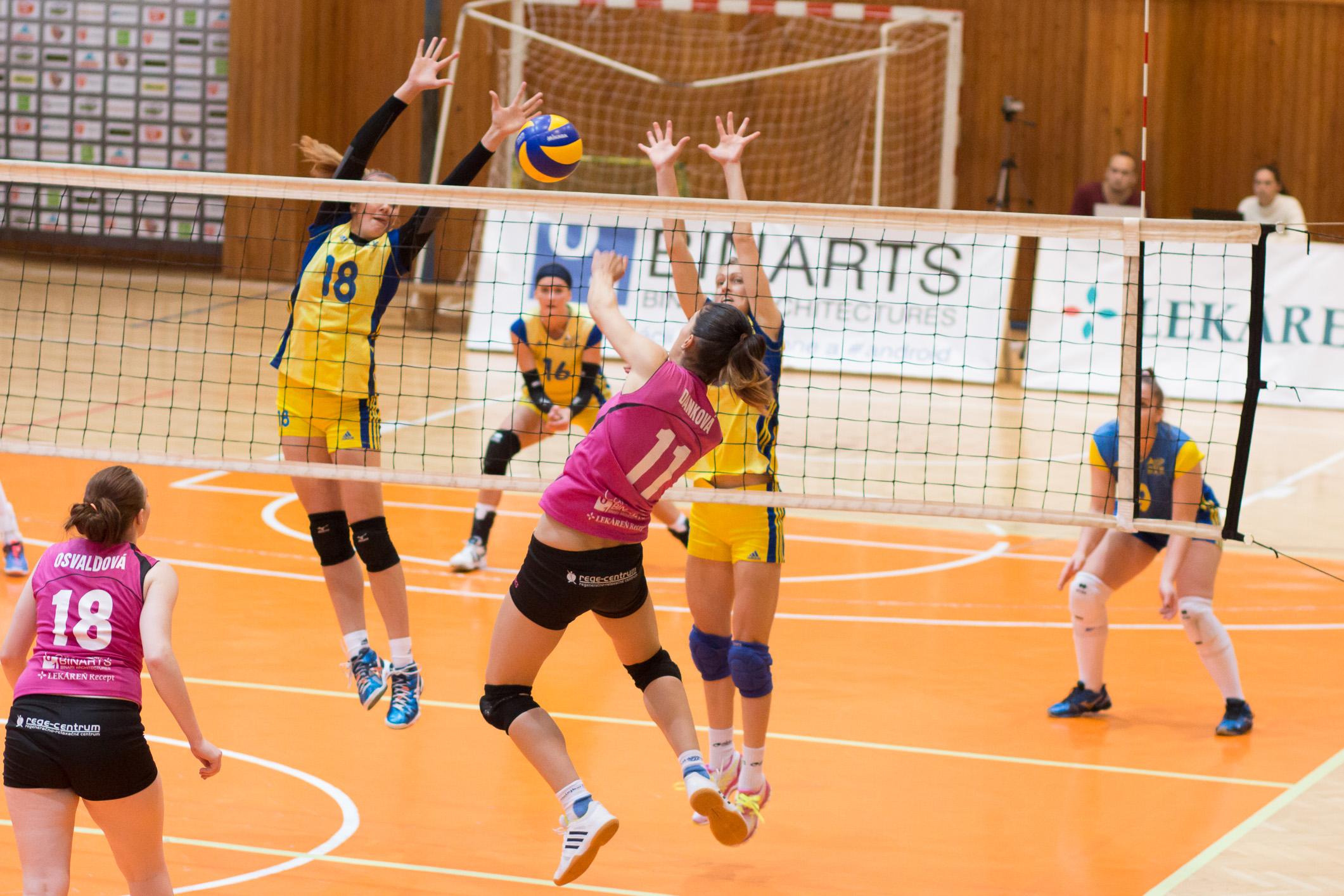 TJ Slávia TU Zvolen (magenta) – 1. BVK Bratislava(žltá)