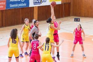 BK Zvolen (žltá) - Tydam UPJŠ Košice (ružová)