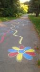 maľba na chodníku
