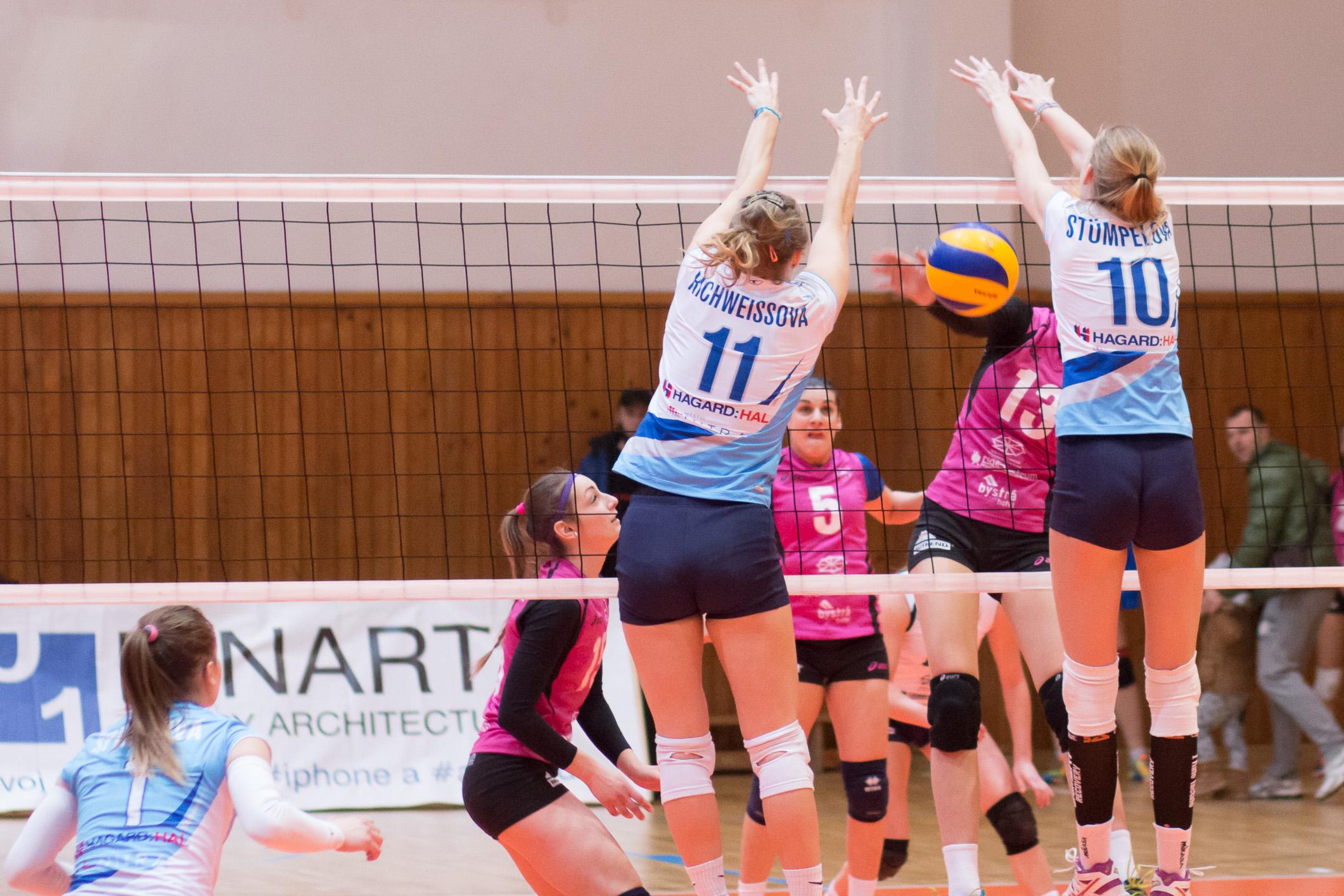 TJ Slávia TU Zvolen (magenta) – Volley project UKFNitra