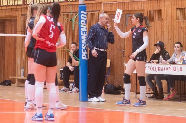 volejbalový zápas v extralige žien vo Zvolene