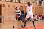 basketbalový zápas starších žiačok