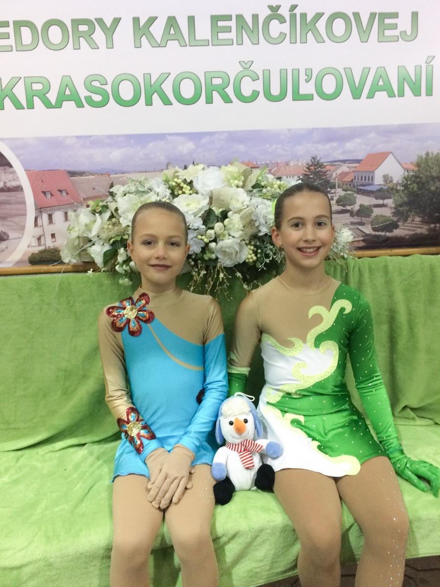 Mladé zvolenské korčuliarky na Novomestskom pohári