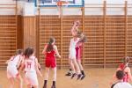 basketbalový zápas starších žiačok Zvolen a Ružomberok