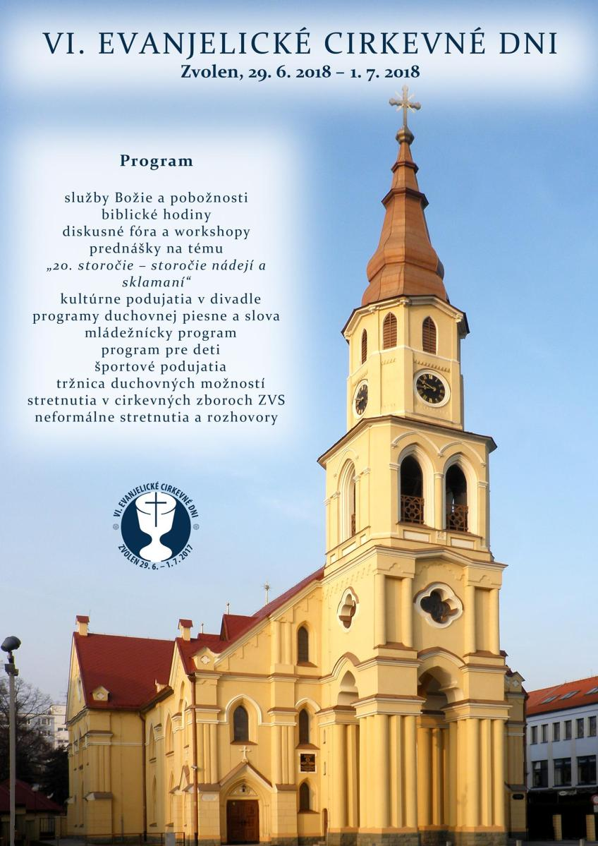 VI. ročník evanjelických cirkevných dní prinesie tri dni bohatého programu