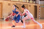 basketbalový zápas kadetiek medzi Zvolenom a Spišskou Novou vsou