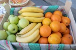 jablko, banán, pomaranč v debničke