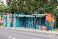 autobusová zastávka na Zvolenskom sídlisku Podborová