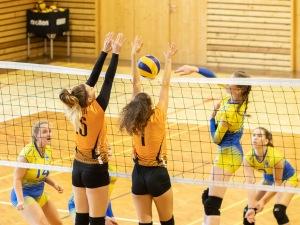 volejbalový zápas žien medzi Zvolenom a Žiarom nad Hronom